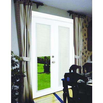 Stanley Doors - Steel Garden Door-Internal Mini Blinds-6 Ft. x ...