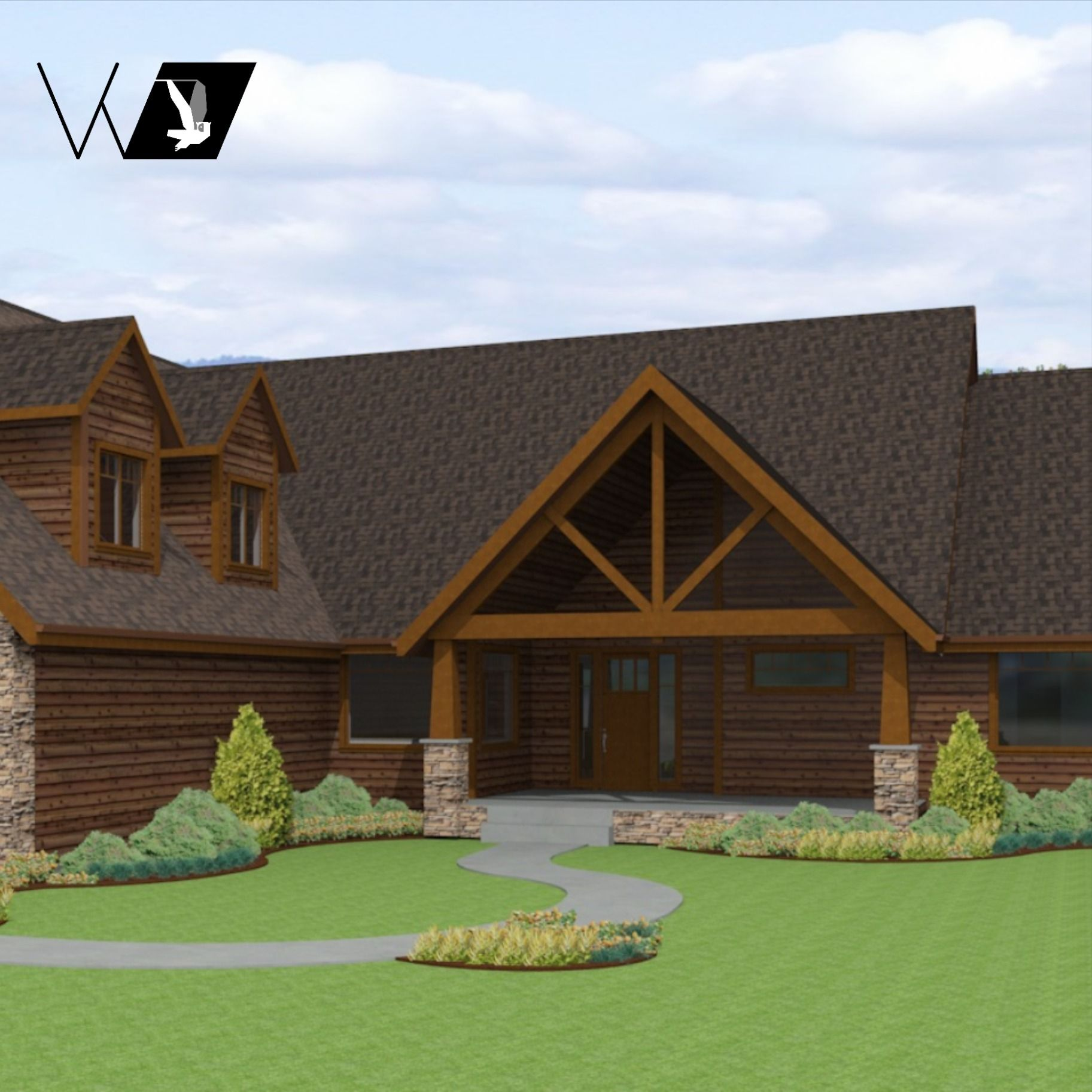 3538zol In 2020 Northwest Style Contemporary Style Homes Floor Plans