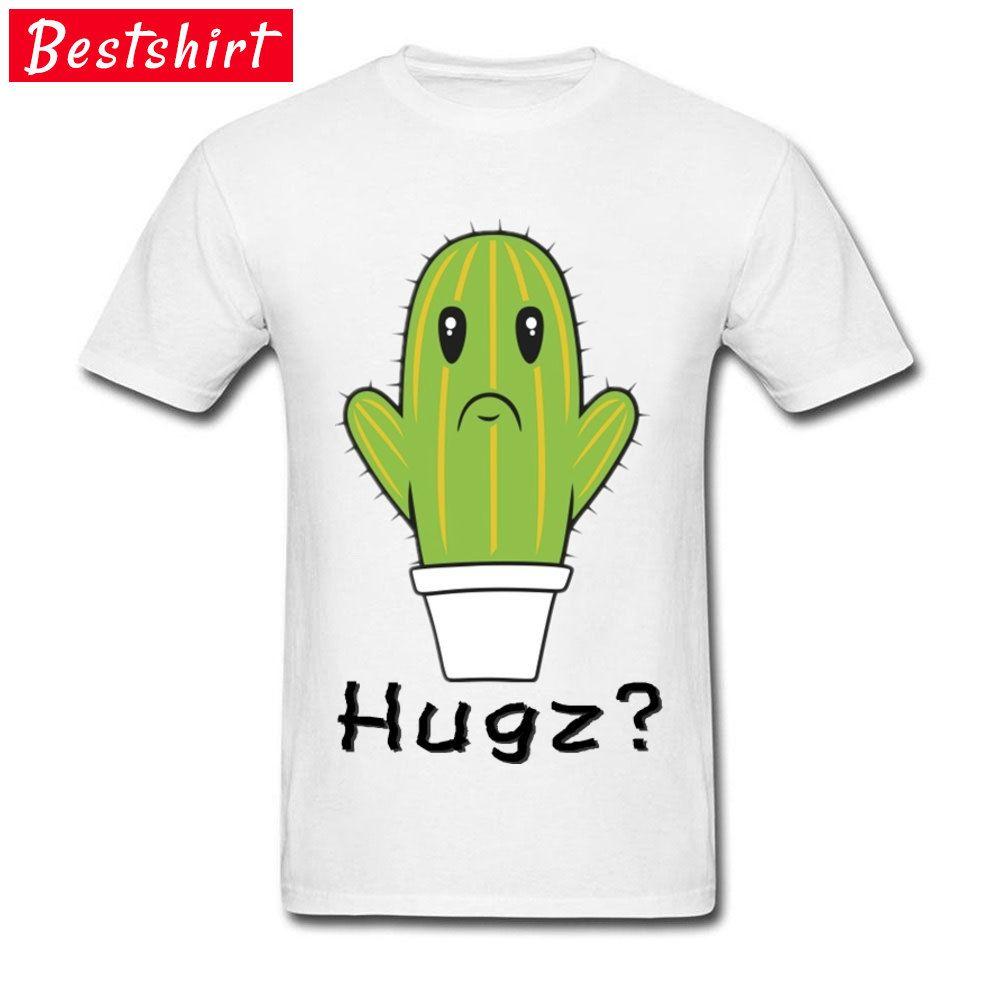 354e1dc80 $8-$12 Wretched Cactus Hugz ? Green Plant Bonsai Image White T Shirt For  Student