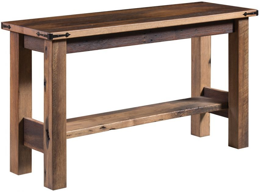 Amish Built Sofa Tables Craigslist Orlando And Loveseat El Dorado Reclaimed Table Industrial Rustic Live Edge Our One Of A Kind Bears The Marks Time For Beautiful Authentic Look Each Is To Order In Usa