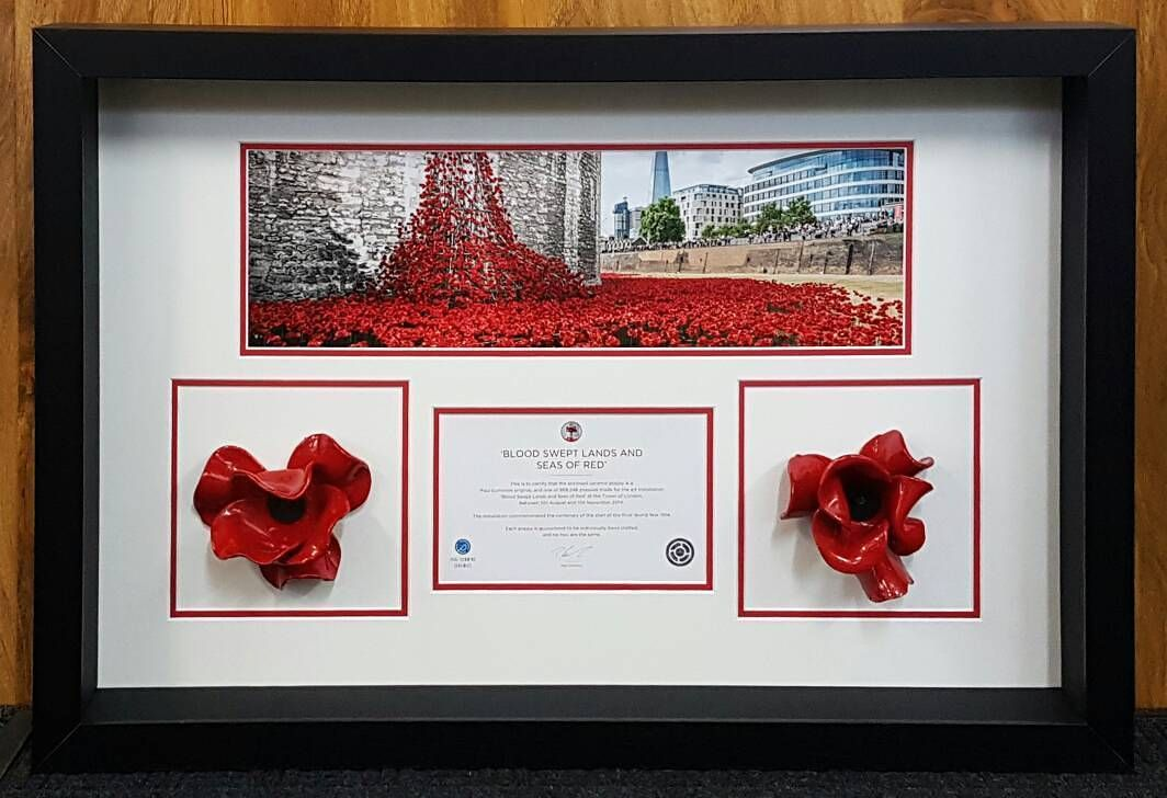 We\'ve framed lots of Tower of London poppies but for this customer ...