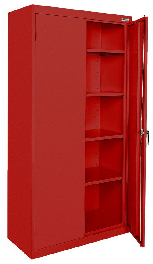 Red Metal Cabinet Red Metal Cabinets Metal Cabinet Adjustable Shelving