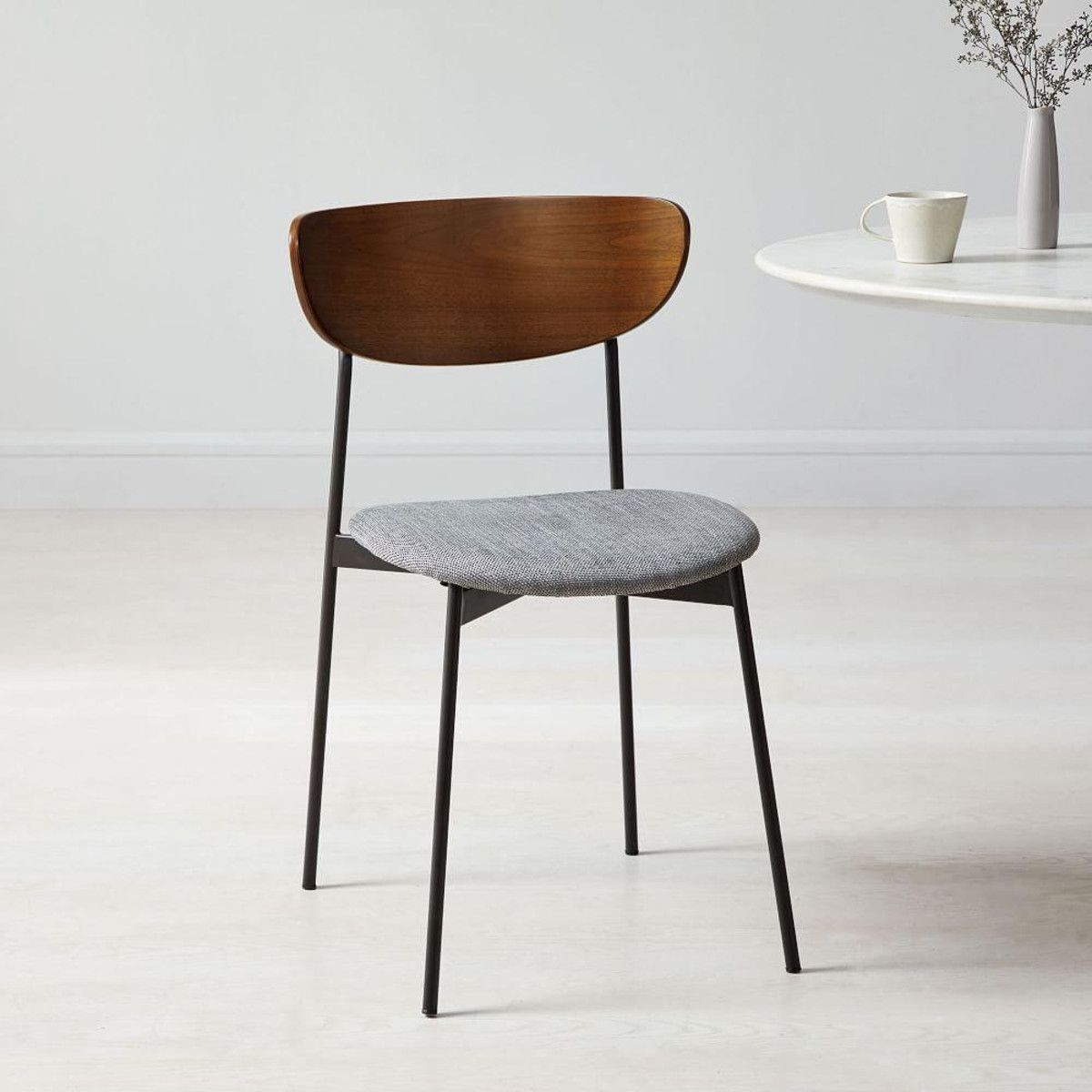 Modern Petal Upholstered Dining Chair Dining Chairs Upholstered