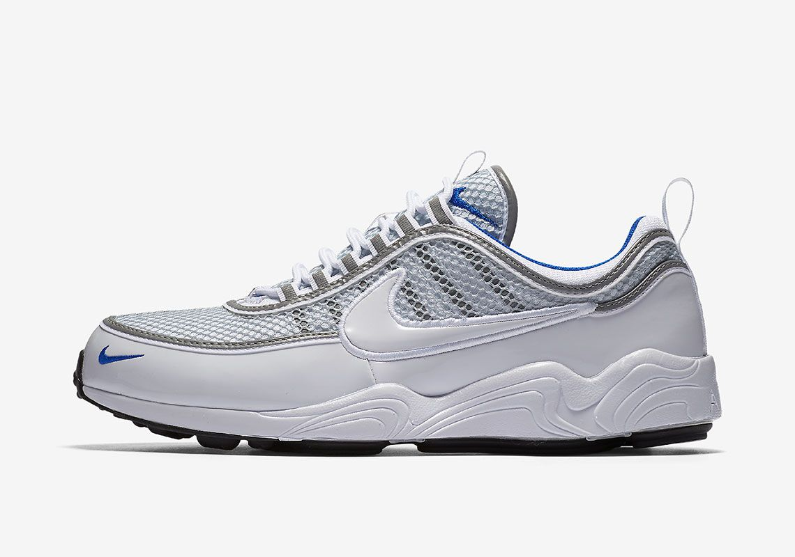 8ae512ab8d0f Nike Zoom Spiridon White Platinum Blue 926955-104  thatdope  sneakers   luxury  dope  fashion  trending