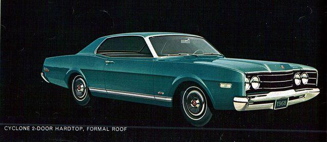 1968 Mercury Cyclone Formal Roof 2 Door Hardtop Mercury Cyclone Mercury Cars Mercury Cyclone Gt