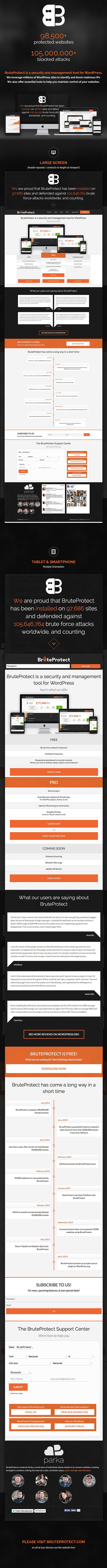 BruteProtect Website 2014 by Parka LLC. #responsive #web #WordPress #security