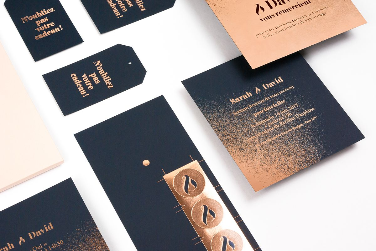 Set de faire-part de mariage / Imprimerie du Marais on Behance