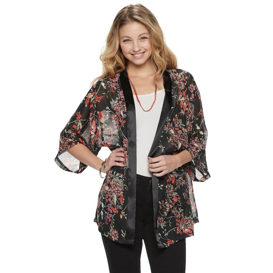 939152aaa36 Mudd® Floral Print Kimono in 2019
