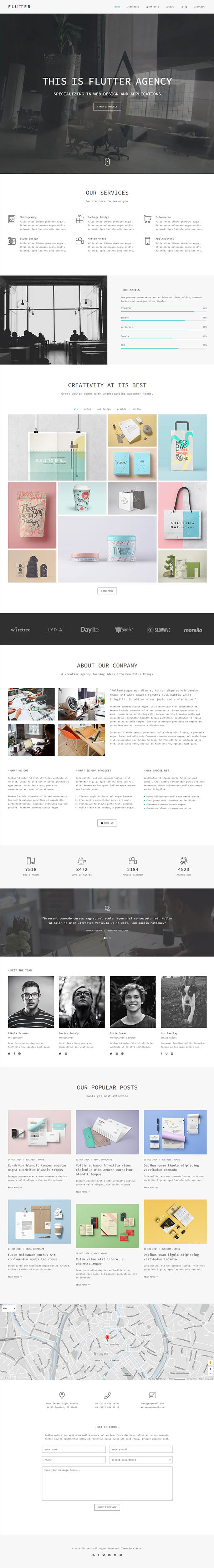 Flutter – Responsive Creative HTML5 Template | free