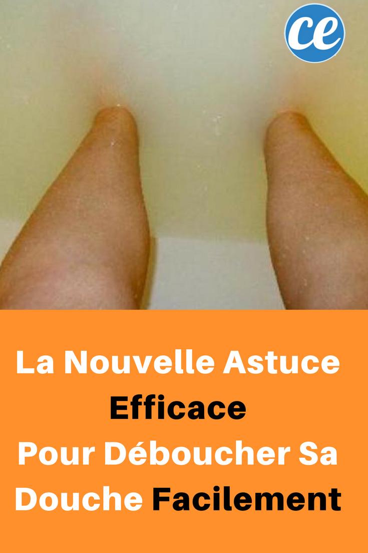 la nouvelle astuce efficace pour d boucher sa douche facilement m nage nettoyage et entretien. Black Bedroom Furniture Sets. Home Design Ideas