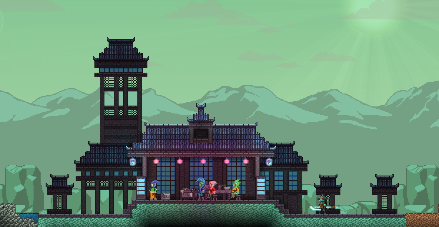Hylotl Village House Idea Fandoms Starbound Village