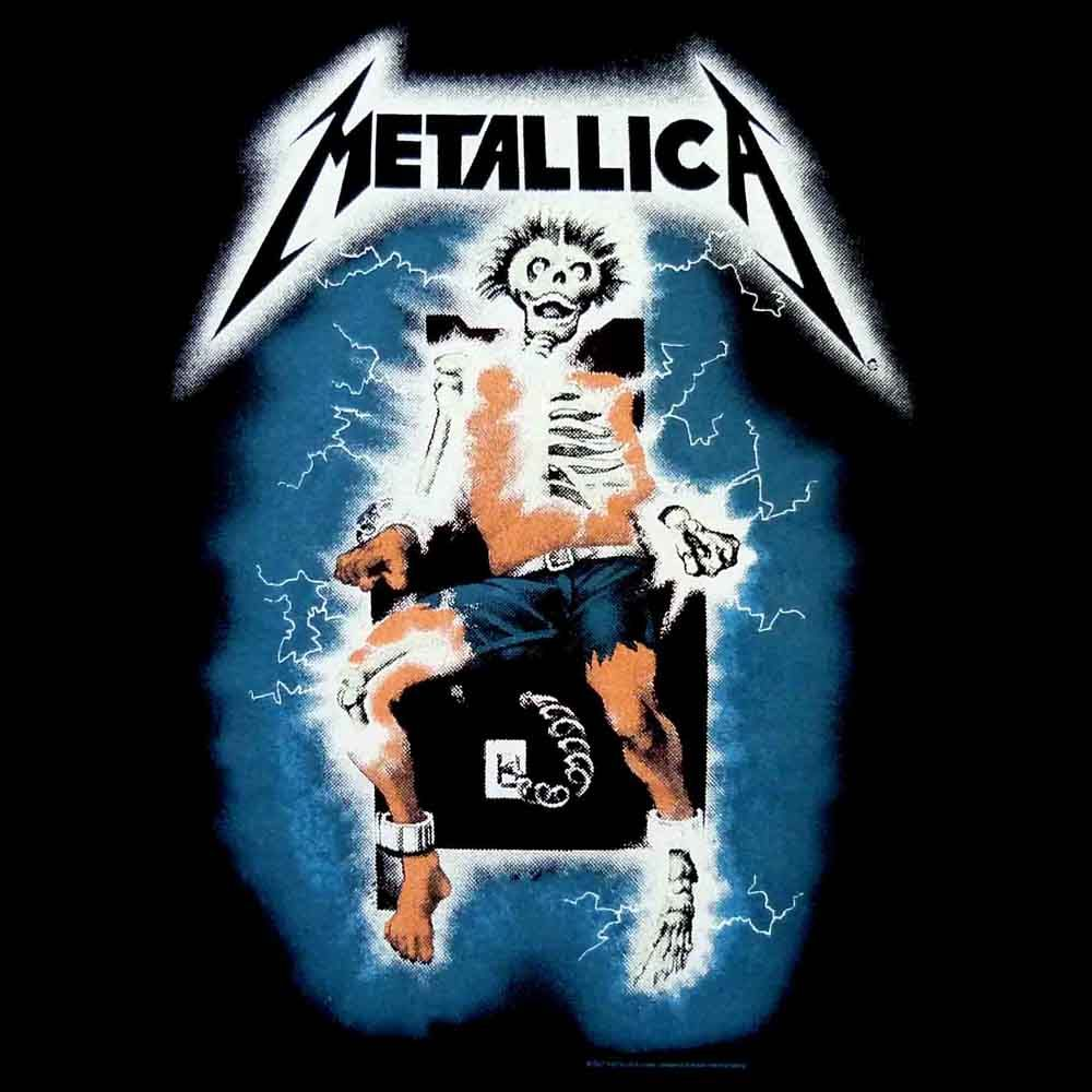 Electric chair tattoo - Juror Wears Metallica Shirt With A Man In An Electric Chair To