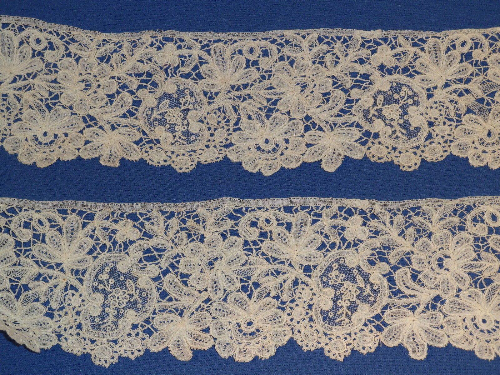 "Antique Brussels Duchesse Point de Gaze Lace Trim 86"" x 2 ¾"" Wedding | eBay"