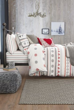 Buy Brushed Cotton Fairisle Print Bed Set online today at Next ...
