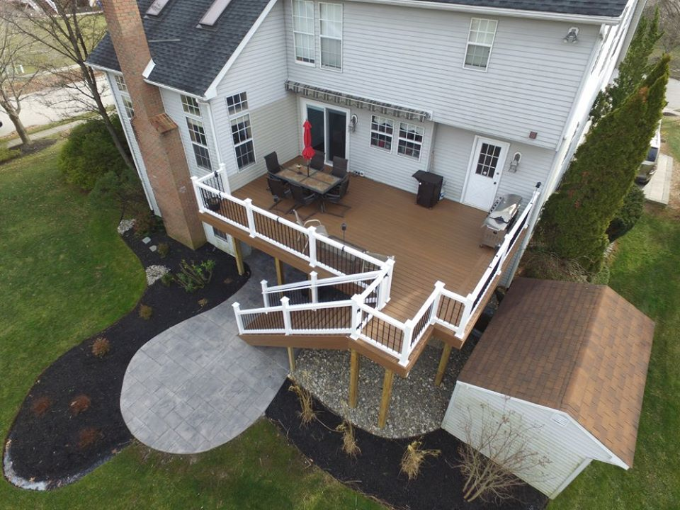 Great Railings Ampro American Chestnut Pvc Decking With