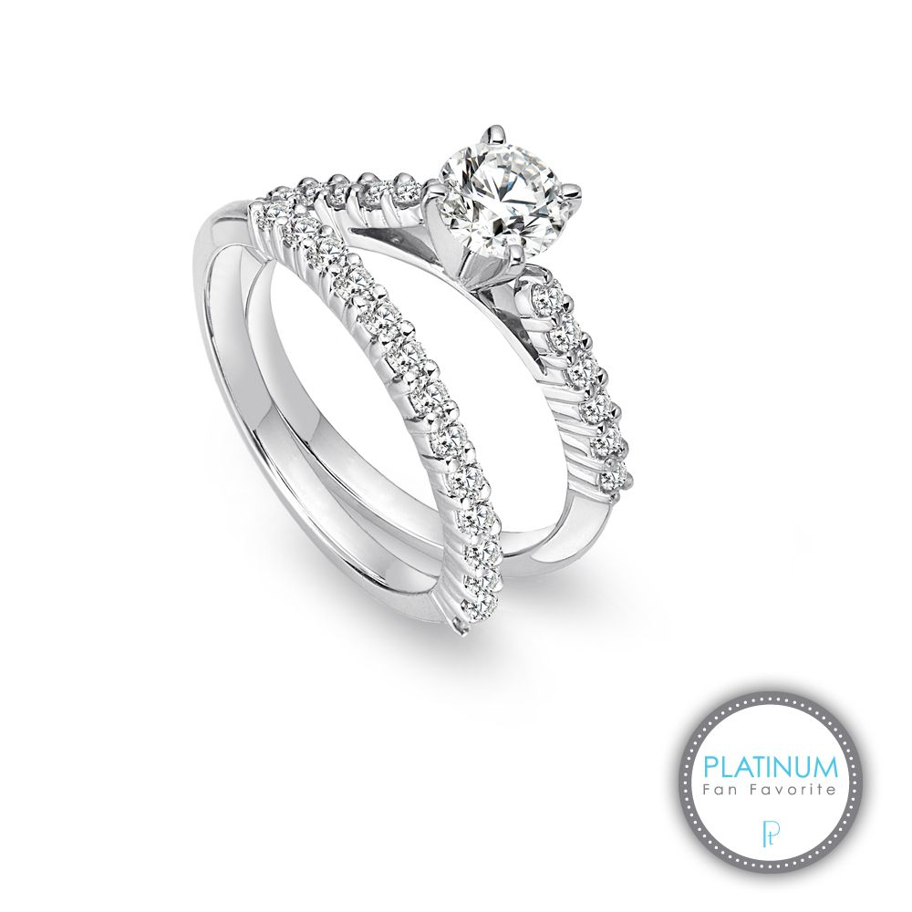 novell studio platinum collection platinum shared prong cathedral