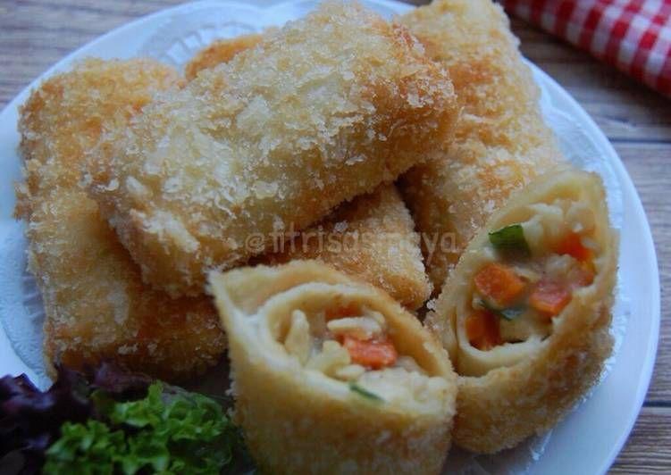Resep Risoles Ragout Ayam Enak Oleh Fitri Sasmaya Resep Makanan Resep Masakan Asia Makanan Dan Minuman