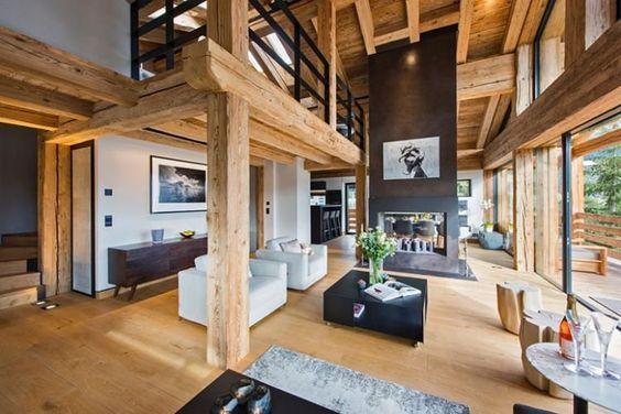 modernes chalet landhausstil skandinavischer alpenstil m bel landhausstil dekoration. Black Bedroom Furniture Sets. Home Design Ideas