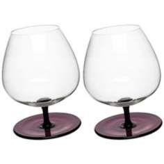 Bar Extra-Large Purple Rocking Glasses Set of 2