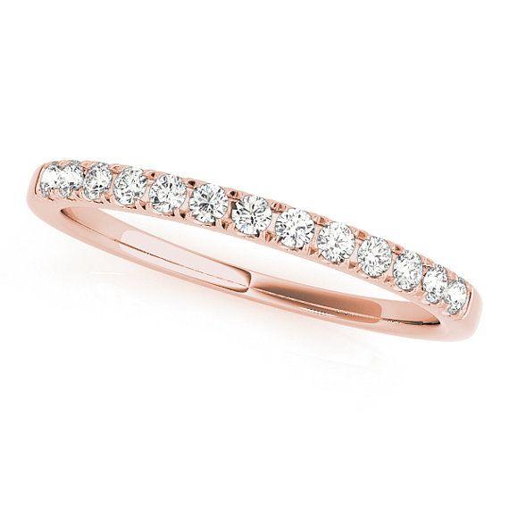 Rose Gold Wedding Band Simple Wedding Ring Rose Gold Wedding Ring