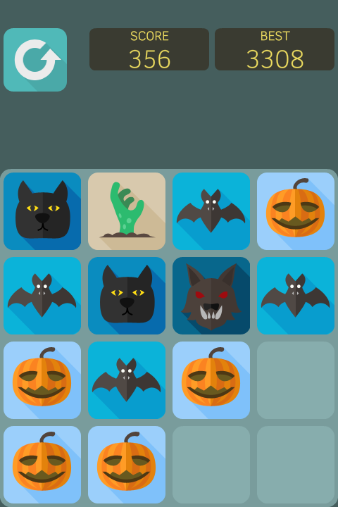 2048 Halloween android game screen | Games I Love | Games