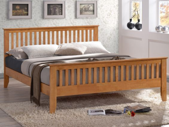 1af080f2245a Buy Turin Wooden Bedframe With Shaker Style Design And A Sprung Slatted Base  from our King Size Beds range - Tesco