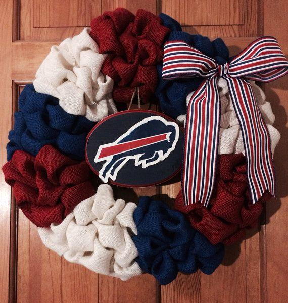 dfc4bc97 Buffalo Bills Burlap Wreath by ArcherAlley on Etsy | Home | Buffalo ...