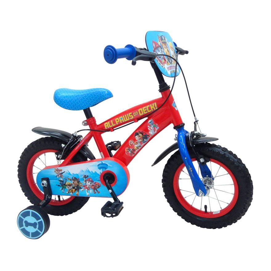 This 12 Inch Paw Patrol Bike Is A Perfect Bike For Fans Of The Paw Patrol Gang It Features A Handlebar Plaque And Fully Enclosed Kids Bike Childrens Bike Bike