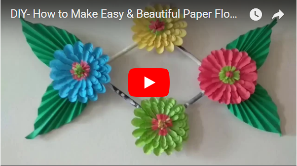 Diy How To Make Easy Beautiful Paper Flower Simple Paper Crafts