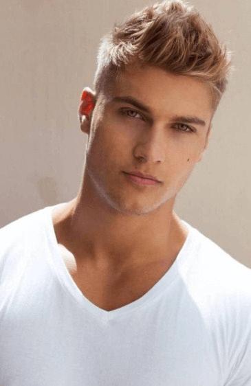 Kurze blonde haare herren