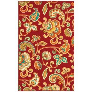 Shaw Living Paisley Red 7 Ft 10 In X 10 Ft 6 In Indoor Outdoor Area Rug 3k38408800 At The Home Depot Paisley Rug Area Rugs Shaw Rugs