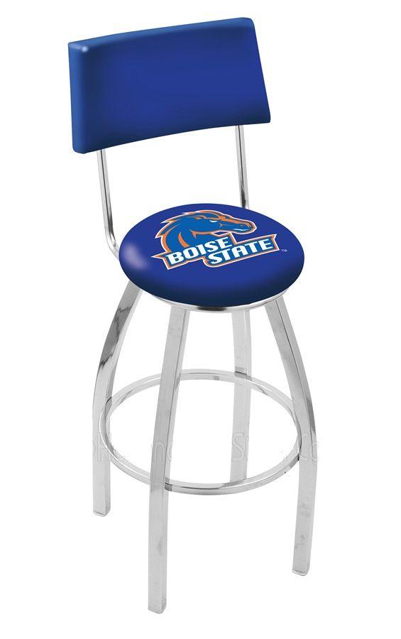 Boise State University Bar Stool w/Back   Bar stools with ...