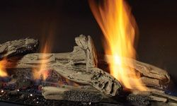 Driftwood Log Set   fireplaces   Pinterest   Gas fireplace ...