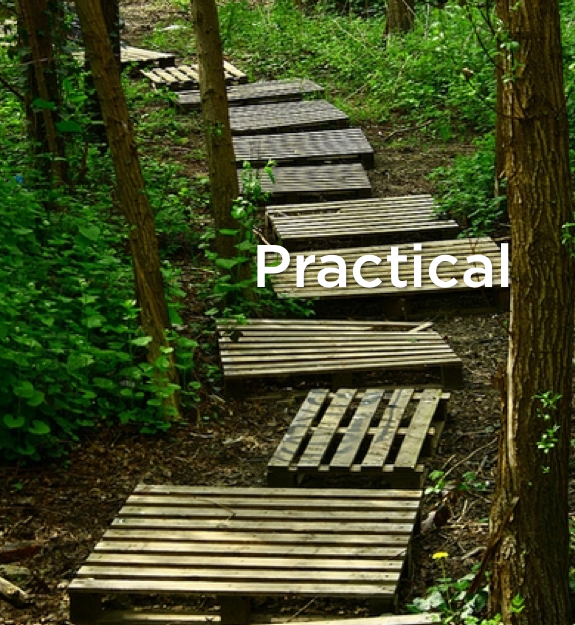practical and free way to make wooden steps on your path