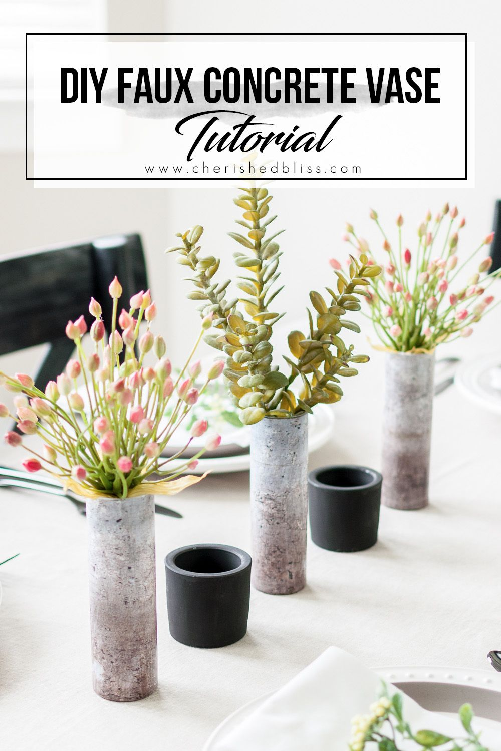 Diy Faux Concrete Vase Tutorial Your Best Diy Projects Pinterest