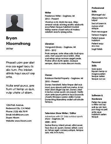 Combination Resume By Hloom Com Best Free Resume Templates Creative Resume Templates Resume