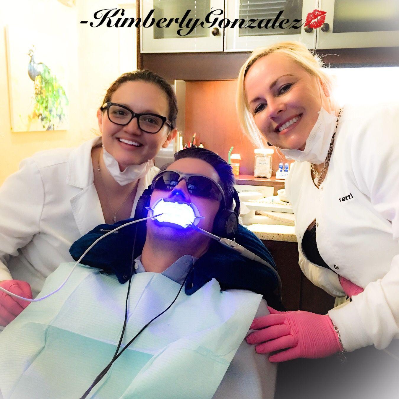GLO and happy dental assistants! glo kimberlyisthash