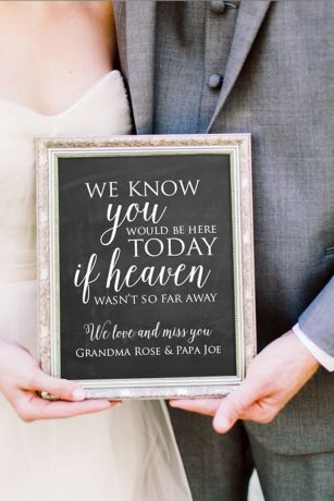 Personalized Wedding Memorial Sign Style WED210, 16x20 #personalizedwedding