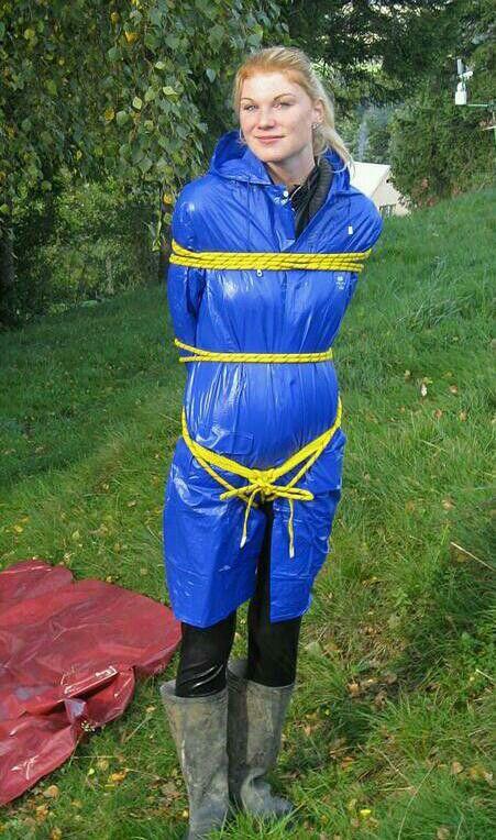 Pin By Sami On Rainwear  Pvc Raincoat, Girl Tape Gagged -9177