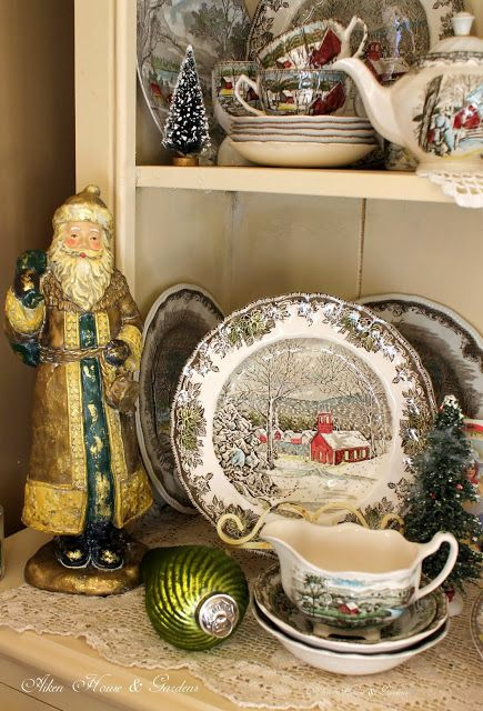 love looking at this china (Friendly Village by Johnson Bros - Made in England)...Aiken House u0026 Gardens Friendly Village Cupboard & love looking at this china (Friendly Village by Johnson Bros - Made ...