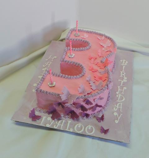 Nr 3 Butterfly Birthday Cake Willi Probst Bakery Kids Birthday