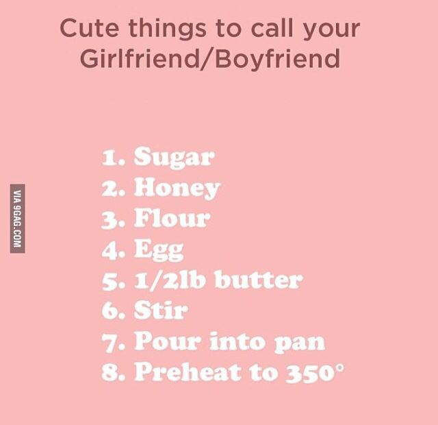 cute romantic nicknames for girlfriend