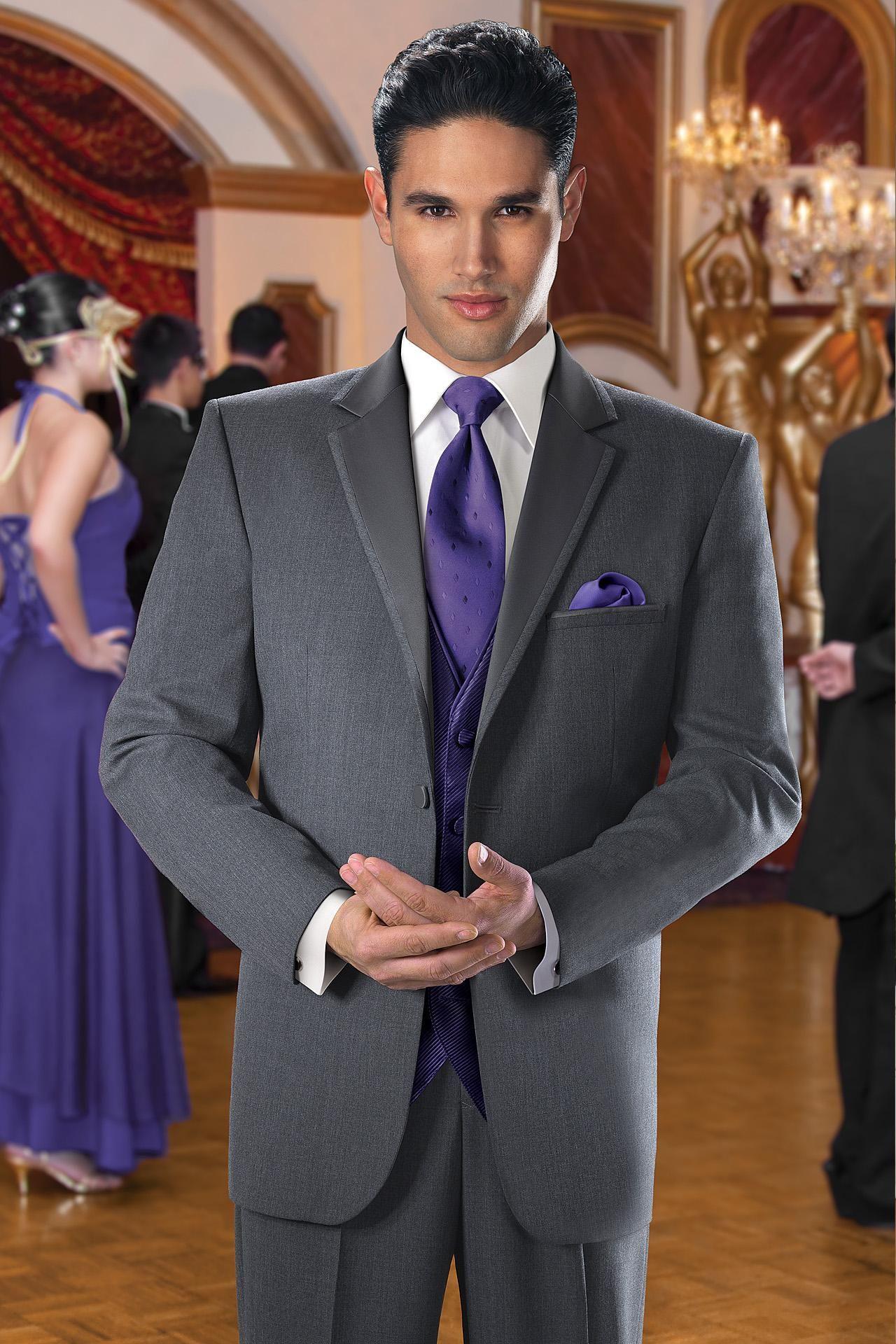 tux styles wedding prom..   moda hombres   pinterest   grey tuxedo
