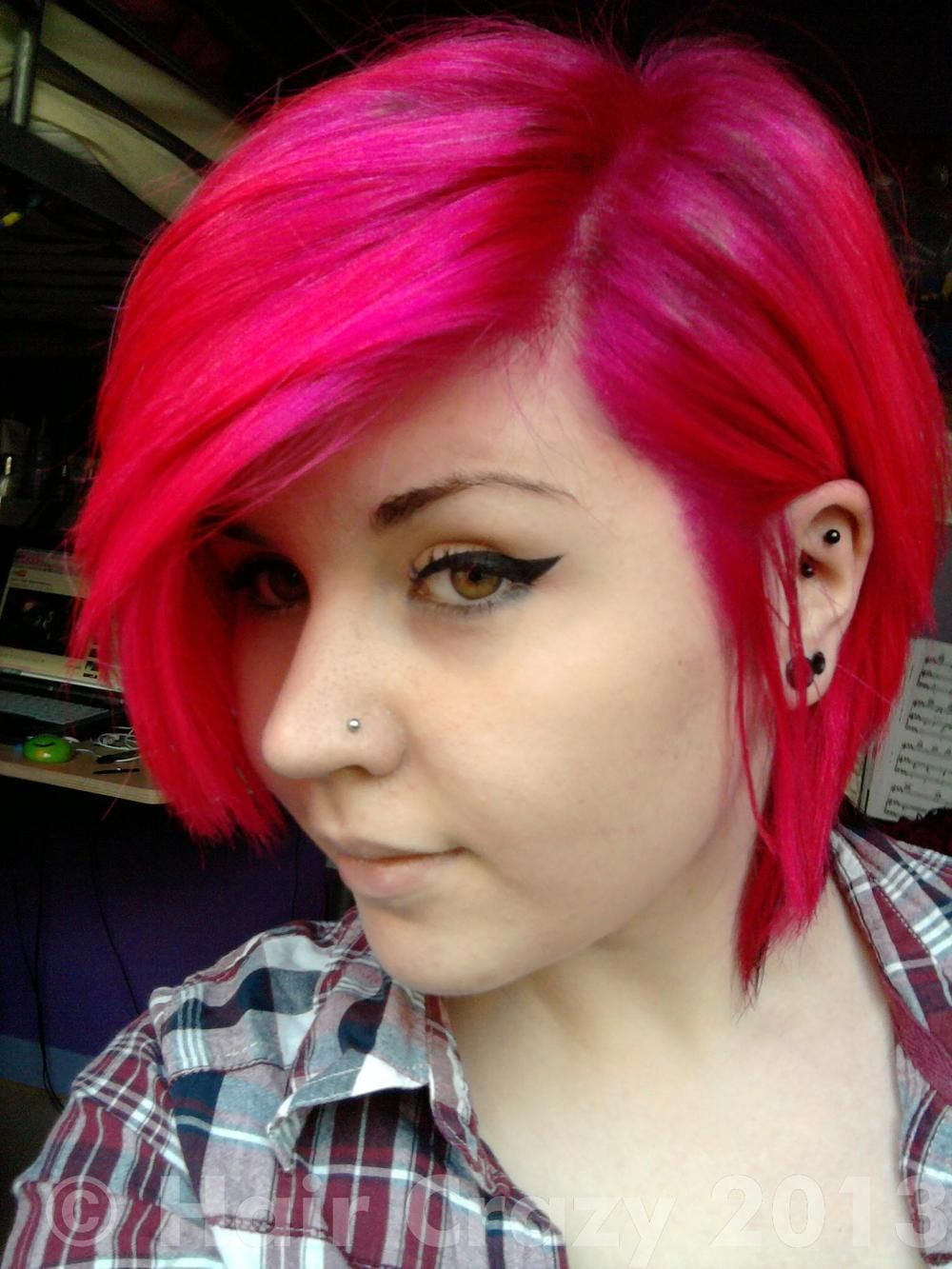 Atomic pink is a long lasting semipermanent hair dye from special