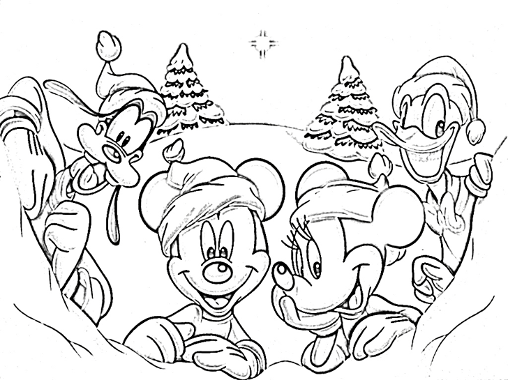 disney merry christmas coloring pages 01