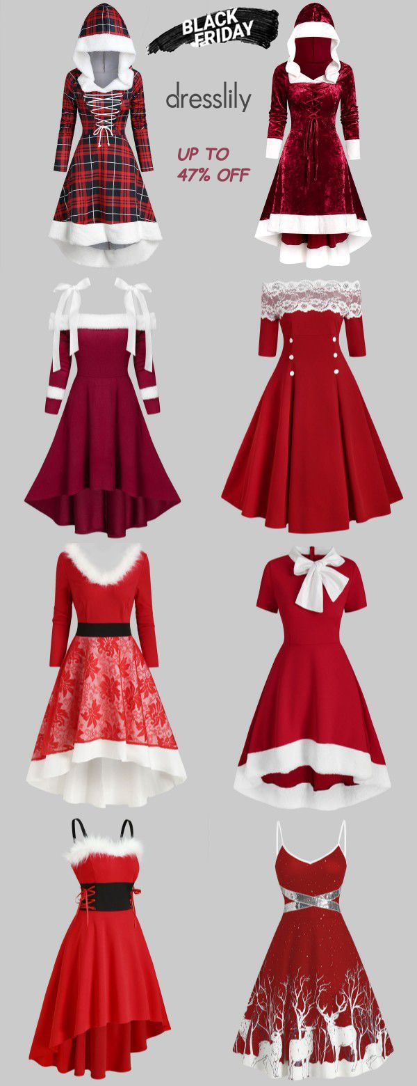 Women's Christmas Clothing | Christmas Dresses #christmaspartyoutfit