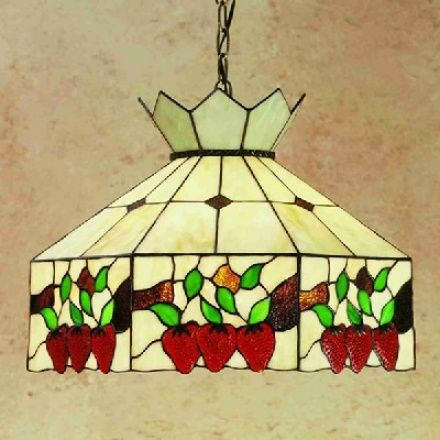 strawberry stained glass | 47570 - Ceiling Pendant Classic Fruit ...