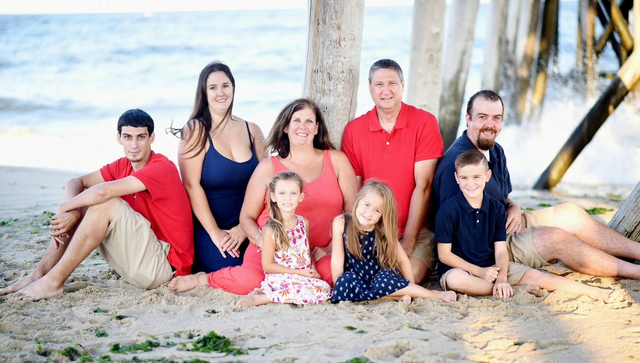 Fall family picture ideas, navy and coral, #acrushphotography ...