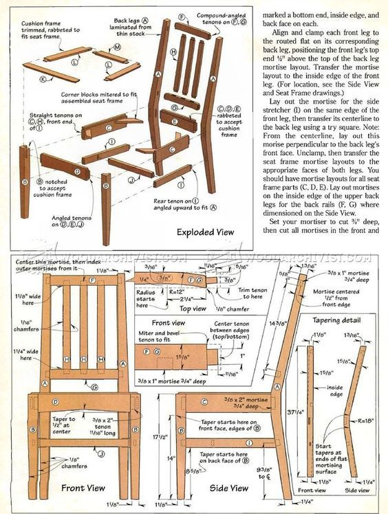 Contemporary Dining Chair Plans With Images Wooden Furniture