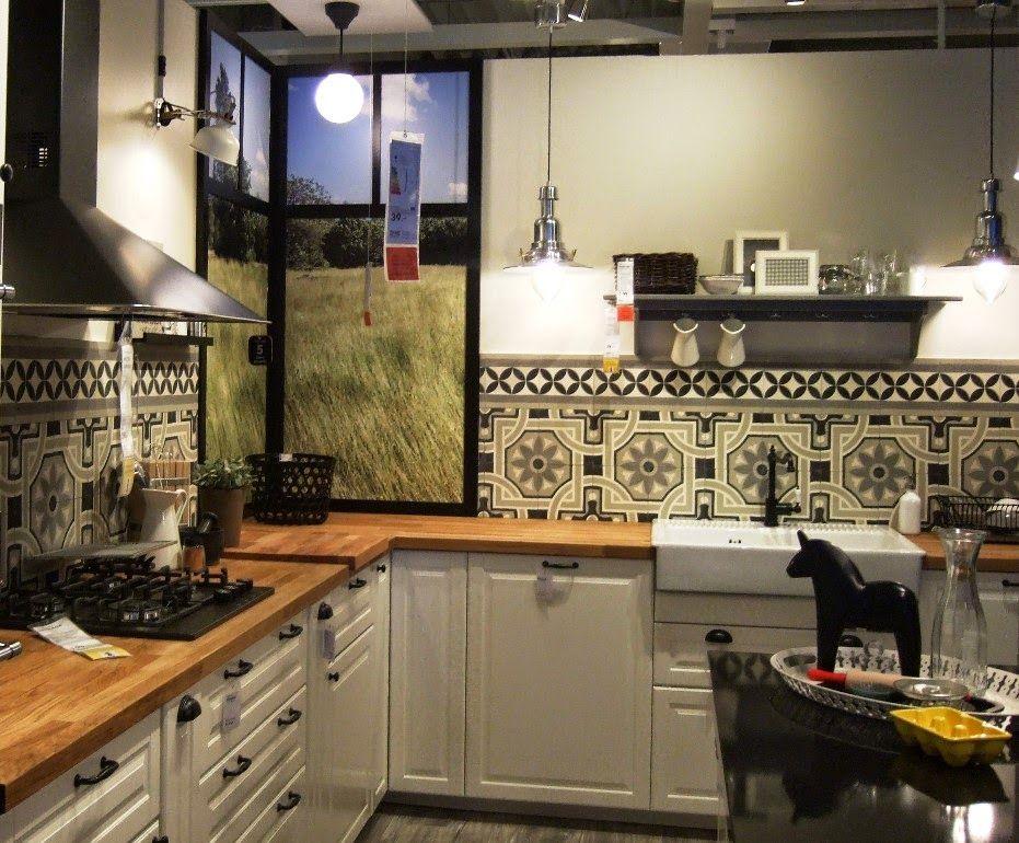 Schöne Aussichten: Casa:1 Zementfliesen in der Küchenausstellung ...   {Küchenausstellung 15}